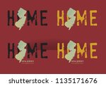new jersey state map in... | Shutterstock .eps vector #1135171676