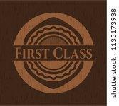first class realistic wood... | Shutterstock .eps vector #1135173938