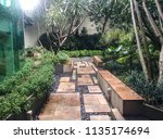 tropical well maintained clean...   Shutterstock . vector #1135174694
