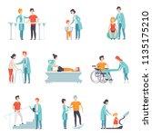 flat vector set of people on... | Shutterstock .eps vector #1135175210