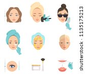 types of procedures for face... | Shutterstock .eps vector #1135175213