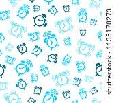 alarm clock seamless pattern... | Shutterstock .eps vector #1135178273