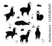 vector set of characters.... | Shutterstock .eps vector #1135182569