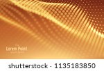 vector abstract particle wave ... | Shutterstock .eps vector #1135183850