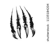 scratch claws of animals...   Shutterstock .eps vector #1135184204