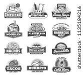 takeaway badges sweet... | Shutterstock .eps vector #1135184216