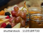 healthy cheese and fruits in a... | Shutterstock . vector #1135189733