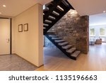 entry with stone stairs ... | Shutterstock . vector #1135196663