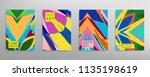 abstract universal grunge art...   Shutterstock .eps vector #1135198619