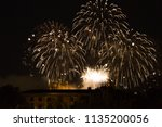 fireworks at cathedral... | Shutterstock . vector #1135200056