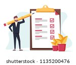 positive business man with a... | Shutterstock . vector #1135200476