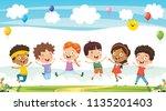 vector illustration of cartoon... | Shutterstock .eps vector #1135201403