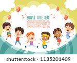 vector illustration of cartoon... | Shutterstock .eps vector #1135201409