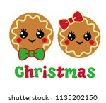 Two Cute Christmas Cookies Wit...