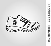 fashioned sport style shoes... | Shutterstock .eps vector #1135203734