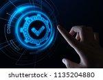 standard quality control... | Shutterstock . vector #1135204880
