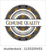 genuine quality arabic emblem... | Shutterstock .eps vector #1135205453