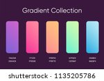 gradient sample set. colorful...