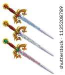 set of different magic swords....