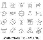 set of vip related vector line... | Shutterstock .eps vector #1135211783