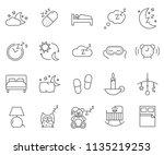 set of dream related vector... | Shutterstock .eps vector #1135219253