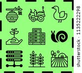 simple 9 icon set of farm... | Shutterstock .eps vector #1135222298