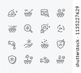 skin care line icons isolated... | Shutterstock .eps vector #1135227629