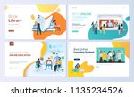 set of web page design... | Shutterstock .eps vector #1135234526