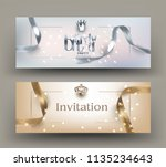 birthday party invitation cards ... | Shutterstock .eps vector #1135234643