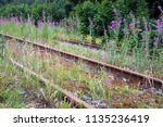 old rusty abandoned railways... | Shutterstock . vector #1135236419