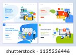 set of web page design... | Shutterstock .eps vector #1135236446