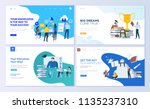 set of web page design... | Shutterstock .eps vector #1135237310