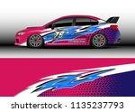 car decal graphic vector  truck ...   Shutterstock .eps vector #1135237793