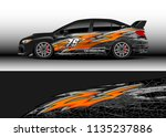 car decal graphic vector  truck ... | Shutterstock .eps vector #1135237886