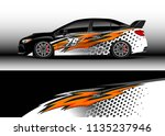 car decal graphic vector  truck ... | Shutterstock .eps vector #1135237946