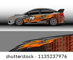 car decal graphic vector  truck ... | Shutterstock .eps vector #1135237976