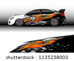 car decal graphic vector  truck ... | Shutterstock .eps vector #1135238003