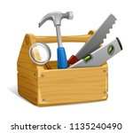 tool  hand tool  hammer with... | Shutterstock .eps vector #1135240490