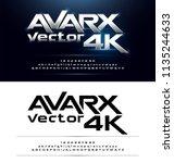 technology alphabet silver... | Shutterstock .eps vector #1135244633