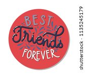 friendship day hand drawn... | Shutterstock .eps vector #1135245179