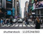 new york  usa   may 28  2018 ...   Shutterstock . vector #1135246583