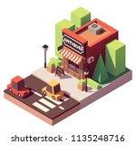 vector isometric antique shop...   Shutterstock .eps vector #1135248716