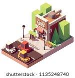 vector isometric vape shop or...   Shutterstock .eps vector #1135248740