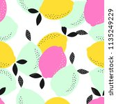abstract pattern with fresh... | Shutterstock .eps vector #1135249229