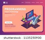 programmer at work concept... | Shutterstock .eps vector #1135250930