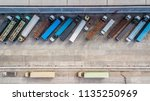 aerial top view of truck and... | Shutterstock . vector #1135250969