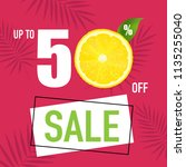 sale poster and slices of... | Shutterstock .eps vector #1135255040