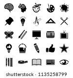 vector art icons. graphic... | Shutterstock .eps vector #1135258799