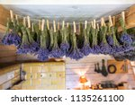 dried bunches of laveder...   Shutterstock . vector #1135261100