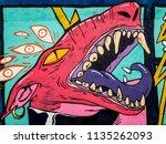 street art graffiti. closeup... | Shutterstock . vector #1135262093